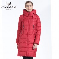 US $57.71 71% OFF|GASMAN 2019 Winter Women Bio Down Jacket Brand Long Winter Coat Women Hooded Down Parka Fashion Jacket New Winter Collection-in Parkas from Women