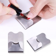 US $0.7 36% OFF|1 Pc Easy French Nail Guide Line Edge Stainless Steel Trimmer French Nail Manicure Nail Art Styling Professional DIY Salon Tool-in Sets & Kits from Beauty & Health on AliExpress - 11.11_Double 11_Singles