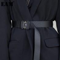 583.9руб. 26% СКИДКА|[EAM] Новинка 2019 года; сезон весна лето; Цвет Черный; с пряжкой из ленты; с разрезом; Индивидуальный длинный ремень; женская мода; подходит ко всему; JR962-in Мужские ремни from Аксессуары для одежды on AliExpress - 11.11_Double 11_Singles