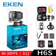 4990.4 руб. 21% СКИДКА|Eken H6S A12 ultra 4k 30FPS действия Wi Fi камера 30m Водонепроницаемая 1080 P go EIS стабилизации изображения Ambarella 14MP pro Спорт cam купить на AliExpress
