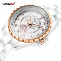 805.54 руб. 31% СКИДКА|Модные женские часы LONGBO 2018 новые роскошные повседневные кварцевые белые керамические подарочные часы женские наручные часы подарки женские купить на AliExpress