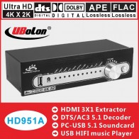 US $106.5 |HDMI AC3 DTS 5.1 Audio Decoder Converter Gear DAC 4K*2K HDMI Extractor Switcher Splitter Digital SPDIF Audio USB Home Theatre on Aliexpress.com | Alibaba Group