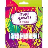 Маркеры-штампики, 8 цветов бренда Kiddie Art - Все, что тебе сейчас нужно