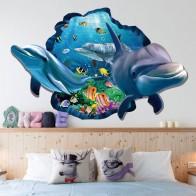 336.77 руб. 24% СКИДКА|Подводная Рыба Дельфин 3d Vivid окна наклейки на стену DIY настенные наклейки для ванной гостиная спальня украшения дома плакат-in Настенные наклейки from Дом и сад on Aliexpress.com | Alibaba Group