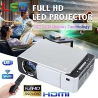 Новый T6 Full HD Lled проектор 4K 3500 люмен HDMI USB 1080p Портативный кинопроектор, домашний умный WIFI проектор