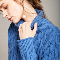 1527.53 руб. 84% СКИДКА|Свитер с петельками с высоким воротником, осенне зимний Свободный корейский вариант Кашемирового свитера, комплекты рубашек-in Пуловеры from Женская одежда on Aliexpress.com | Alibaba Group