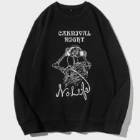 Men Skull And Letter Graphic Sweatshirt