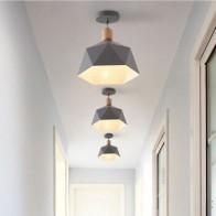 Скандинавский потолочный светильник, современный светодиодный светильник, деревянный подвесной светильник для помещения, Деревянный свет... - Люстры в дом