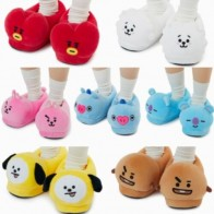 US $15.99 30% OFF|Kpop BTS Bangtan Boys Plush Shoes Slippers Cute COOKY CHIMMY KOYA TATA Winter Warm Soft Shoes Indoor House Home Shoes-in Women