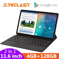 "Teclast m16 2 em 1 comprimidos 11.6 ""android tablet pc helio x27 deca núcleo 4 gb ram 128g rom 4g rede 8.0mp tipo de encaixe c hdmi on AliExpress"