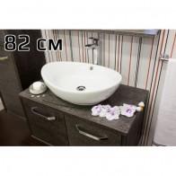 Купить Тумба РУМБА 82 венге-серебро Sanflor под раковину Гамма 56 в Ульяновске - Подвесная тумба для ванной