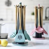 Набор инструментов для выпечки, силиконовая ложка-Лопатка для масла, шпатель, лапша, суп, розовый, зеленый - Штучки для кухни