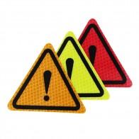 52.97 руб. 18% СКИДКА|Универсальный отражательные наклейки для автомобилей Кузов декоративный элемент поверхностного монтажа мотоциклетные треугольный, предупреждающий ярлык