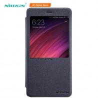 Nillkin чехол для телефона для Xiaomi Redmi Note 4X чехол Sparkle Leather чехол для Redmi Note 4X окна полный охват защитить флип чехлы купить на AliExpress