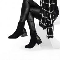 2011.42 руб. 56% СКИДКА|Roni Bouker/ботильоны из искусственной замши; женские плюшевые ботинки на не сужающемся книзу массивном каблуке; женская шикарная обувь; женские ботинки; Коричневый шоколад; Прямая поставка-in Ботильоны from Туфли on Aliexpress.com | Alibaba Group