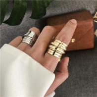 2019 New Minimalist Retro Temperament Multi layer Wide Version Ring Female Wide Version Simple Wild Ring For Women Girls-in Rings from Jewelry & Accessories on AliExpress - Anillo, anillo, anillo