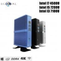 7497.34 руб. 35% СКИДКА|Eglobal дешевые безвентиляторные Мини ПК Windows 10 Pro Intel i5 7200U i3 7100U i7 4500U DDR4/DDR3 Barebone компьютер 4 K HTPC WiFi HDMI VGA-in Мини-ПК from Компьютер и офис on Aliexpress.com | Alibaba Group