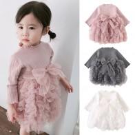 579.27 руб. 28% СКИДКА|Коллекция года, весенне осеннее детское трикотажное платье в Корейском стиле с длинными рукавами и бантом для девочек детская од-in Платья from Мать и ребенок on Aliexpress.com | Alibaba Group