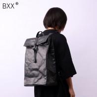 3306.69 руб. 17% СКИДКА|[BXX] 2019 Летняя женская черно белая Водонепроницаемая Высокая емкость, плиссированная бумага, двойные ремни, легкий рюкзак LM614-in Рюкзаки from Багаж и сумки on Aliexpress.com | Alibaba Group