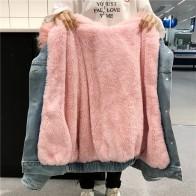 2427.89 руб. 26% СКИДКА|2019 зимняя женская джинсовая куртка с меховым капюшоном, толстая зимняя женская парка из овечьего меха, зимняя джинсовая куртка, chaquetas, Женское пальто-in Базовые куртки для женщин from Женская одежда on Aliexpress.com | Alibaba Group