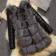 2229.35 руб. 40% СКИДКА|2016 новая высокая имитация silver fox шуба ПУ рукава теплая зима пальто лиса пальто больших ярдов пальто-in Искусственный мех from Женская одежда on Aliexpress.com | Alibaba Group