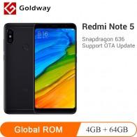 9860.8 руб. |Оригинальный мобильный телефон Xiaomi Redmi Note 5, 4 Гб ОЗУ, 64 Гб ПЗУ, Восьмиядерный процессор Snapdragon 636 5,99