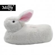 822.62 руб. |Millffy классический кролик Тапочки взрослый размер плюшевые тапочки животных малышей костюм обувь домашняя обувь-in Тапочки from Обувь on Aliexpress.com | Alibaba Group