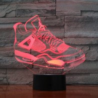 US $11.79 41% OFF|7 Colorful USB Sneaker Shoes 3D Illusion Lamp Kids Bedroom Sleep Light LED Table Lamp Child Night Lights Party Gifts Drop Ship-in LED Night Lights from Lights & Lighting on AliExpress