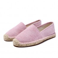 US $23.59 35% OFF|Espadrilles Women Flat Casual Shoes Rubber Summer Shoes ladies Black loafers Woman Slip On Flats Shoes Outdoor Breathable Shoes-in Women