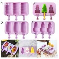 4 ВИДА ескимо сладолед силиконова форма калъп за направа на десерти в Форми в гр. Ямбол - ID27886575 — Bazar.bg