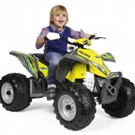 Детский квадроцикл Peg Perego Polaris Outlaw Citrus IGOR0090 - Детские электромобили