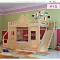 60415.12руб. 20% СКИДКА|2016 современная деревянная детская двухъярусная кровать с ползуном для шкафа-in Детские мебельные гарнитуры from Мебель on AliExpress - Подарки детям