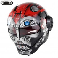 US $85.85 19% OFF|Moto Iron man Racing Motorcycle Helmet Motocross Full Face Casco Moto Flip up Capacete Soman 515-in Helmets from Automobiles & Motorcycles on Aliexpress.com | Alibaba Group