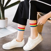 US $1.04 20% OFF|Ins Style Fashion Transparent Rainbow Short Socks Women Summer Thin Harajuku Ankle Socks Hipster Art Low Cute Socks Fmale Sox-in Socks from Underwear & Sleepwears on Aliexpress.com | Alibaba Group