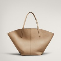 LEATHER TOTE BAG - Women -  Massimo Dutti