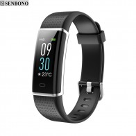US $24.49 29% OFF|SENBONO ID130P Color HR LCD smart fitness tracker band support sport tracking heart rate Multi sport mode SMS reminder bracelet-in Smart Wristbands from Consumer Electronics on Aliexpress.com | Alibaba Group