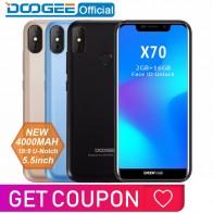 3911.06 руб. 15% СКИДКА|2018 Новый DOOGEE X70 смартфон уход за кожей лица 5,5