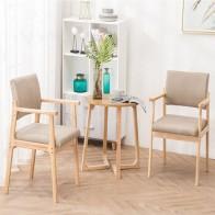 Твердый обеденный стул из дерева подлокотник Скандинавская мебель для дома современный минималистичный задний Повседневный журнальный ка...
