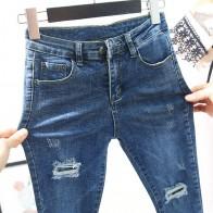 863.33руб. 42% СКИДКА|Женские джинсы, обтягивающие, эластичные, обтягивающие, винтажные, черные, синие, обтягивающие, узкие брюки, женские джинсы-in Джинсы from Женская одежда on AliExpress