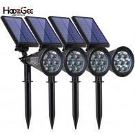 US $16.63 48% OFF|HoozGee الشمسية أضواء الحديقة كشاف إضاءة خارجية ليد حديقة 7 LED قابل للتعديل 7 اللون في 1 جدار مصباح مصابيح إضاءة للمناظر الطبيعية ل الباحة ديكور-في مصابيح LED في الحديقة من مصابيح وإضاءات على Aliexpress.com | مجموعة Alibaba