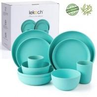 Lekoch Европейская посуда 10 шт. синий бамбуковый волоконный бытовой комплект столовой посуды простые блюда салатная миска тарелка для стейка ... - Салатницы
