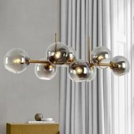 Винтажная люстра в стиле ретро, с молекулярной лампой итальянского дизайна, кухня, остров, столовая, бар, стеклянная люстра с шарами - Люстры в дом