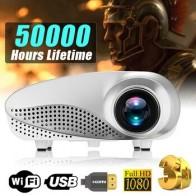 Новый мини-проектор Full HD Портативный 1080P 3D HD светодиодный мультимедийный домашний кинотеатр USB VGA HDMI tv система домашнего кинотеатра - Электроника