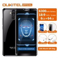 16352.8 руб. |Оригинальный Oukitel K6 Face ID смартфон 6300 мАч 6,0