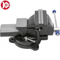 2120.0 руб. |Тиски слесарные поворотные Калибр ТПСН 100 купить на AliExpress