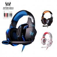 Высокое качество kotion каждый G2000 глубокий бас игровой гарнитуры наушники повязка на голову стерео наушники с микрофоном свет для PC Gamer купить на AliExpress