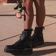 2973.69 руб. 48% СКИДКА|Baimier/Женские Ботинки martin из черной лакированной кожи; ботильоны для женщин на шнуровке; коллекция 2019 года; сезон весна; модные женские ботинки на платформе-in Ботильоны from Туфли on Aliexpress.com | Alibaba Group