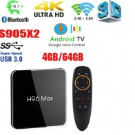 2242.15 руб. 6% СКИДКА|H96 max X2 Android 8,1 ТВ BOX Amlogic S905X2 4 GB 64 GB Google Voice Управление 2,4 ГГц и 5,8 ГГц Wi Fi Bluetooth vs h96 max плюс купить на AliExpress