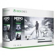 Игровая консоль MICROSOFT Xbox One S с 1ТБ памяти, игрой Metro Exodus,  белый