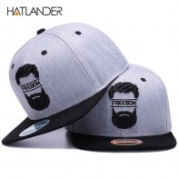 US $7.2 55% OFF|HATLANDER Original snapback cap men flat brim bone baseball caps embroidery mustache mens hat youth street ware cool hip hop cap-in Baseball Caps from Apparel Accessories on Aliexpress.com | Alibaba Group